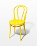 Front view thumbnail of Brent Yellow Cafe Chair