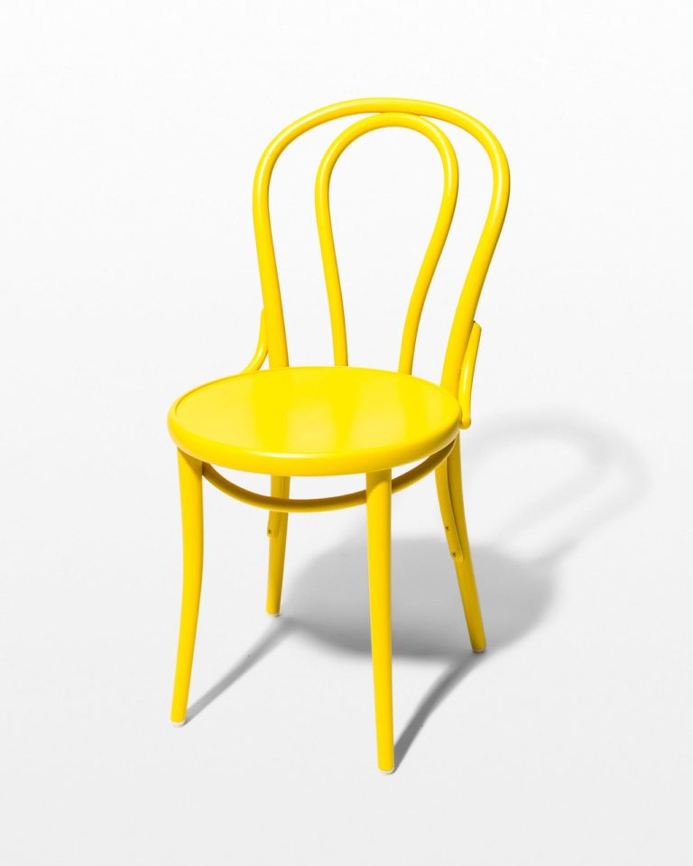 Front view of Brent Yellow Cafe Chair