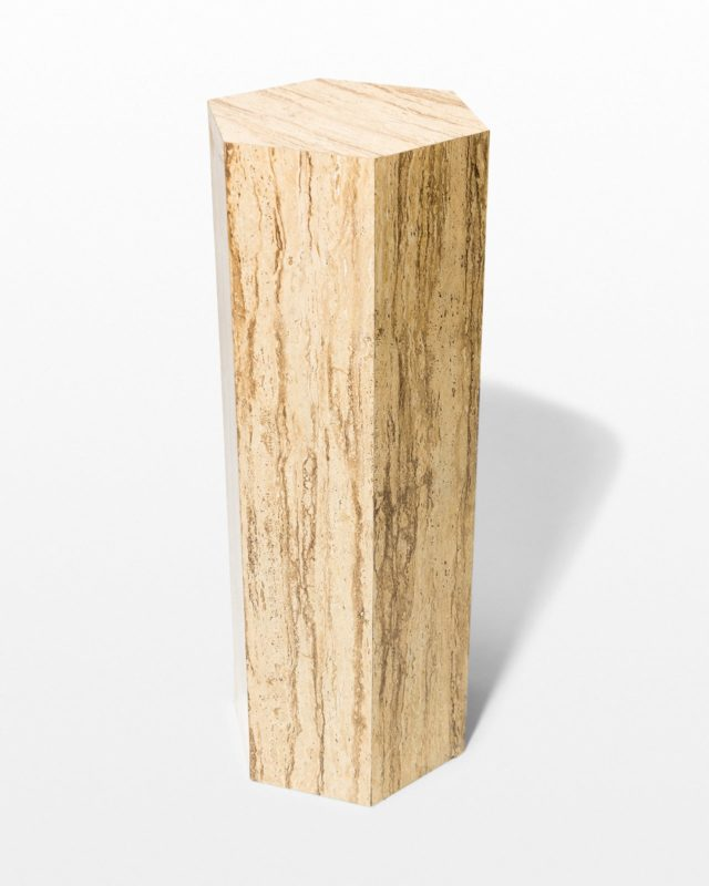 Front view of Marsh Hexagon Stone Laminate Pedestal