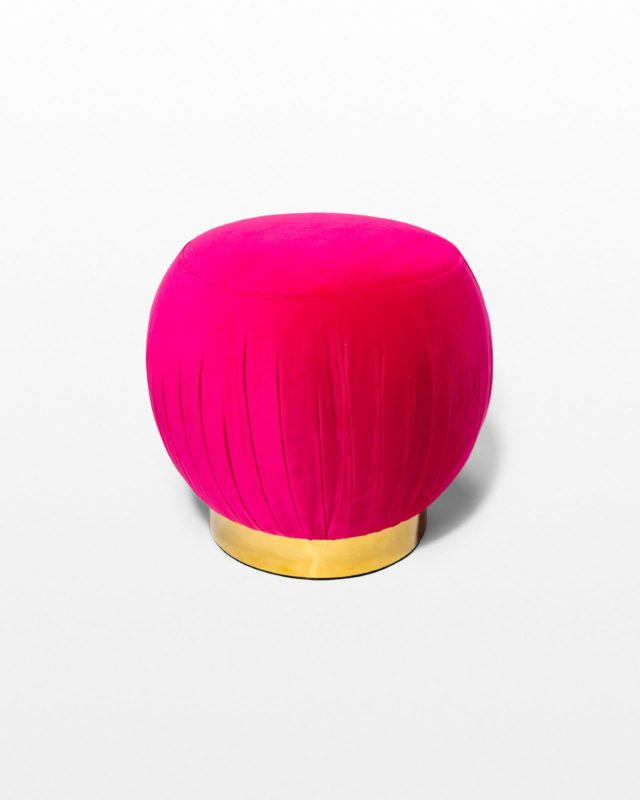 Front view of Betsey Pouf Ottoman
