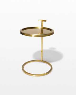 Front view of Bennett Gold Ring Side Table