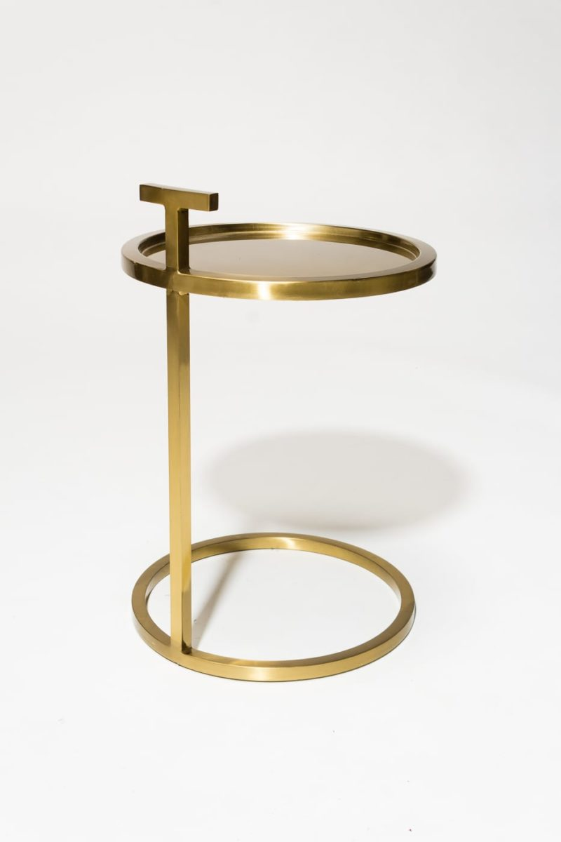Alternate view 4 of Bennett Gold Ring Side Table