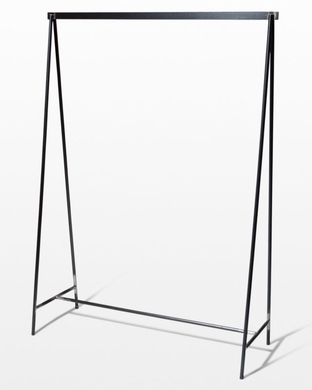 Front view of Wythe Steel Clothing Rack
