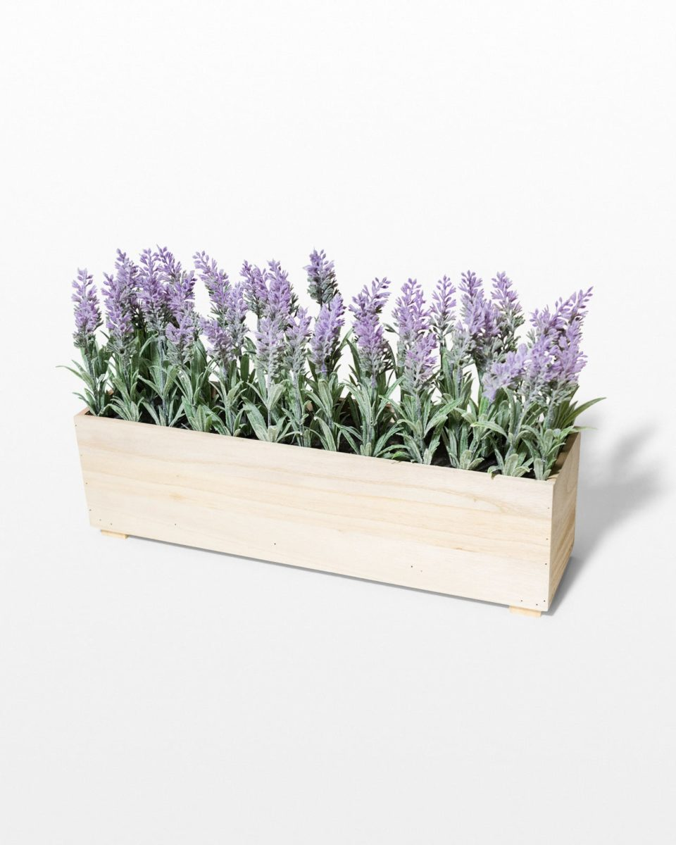 Front view of Breeze Faux Lavender Window Box