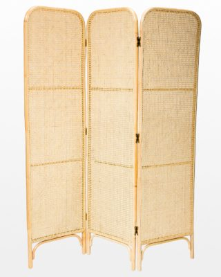 Front view of Corina Rattan and Caned Screen