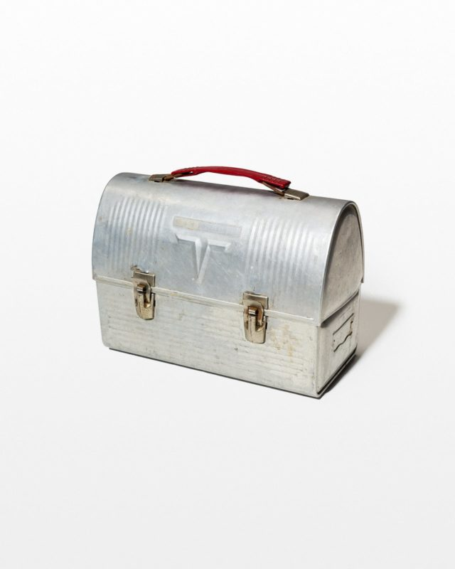 Front view of Rockefeller Aluminum Lunch Box