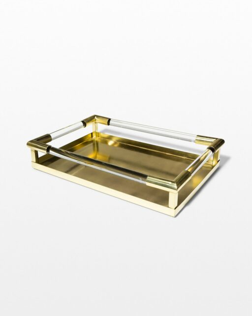 Front view of Sheryl Brass and Acrylic Tray