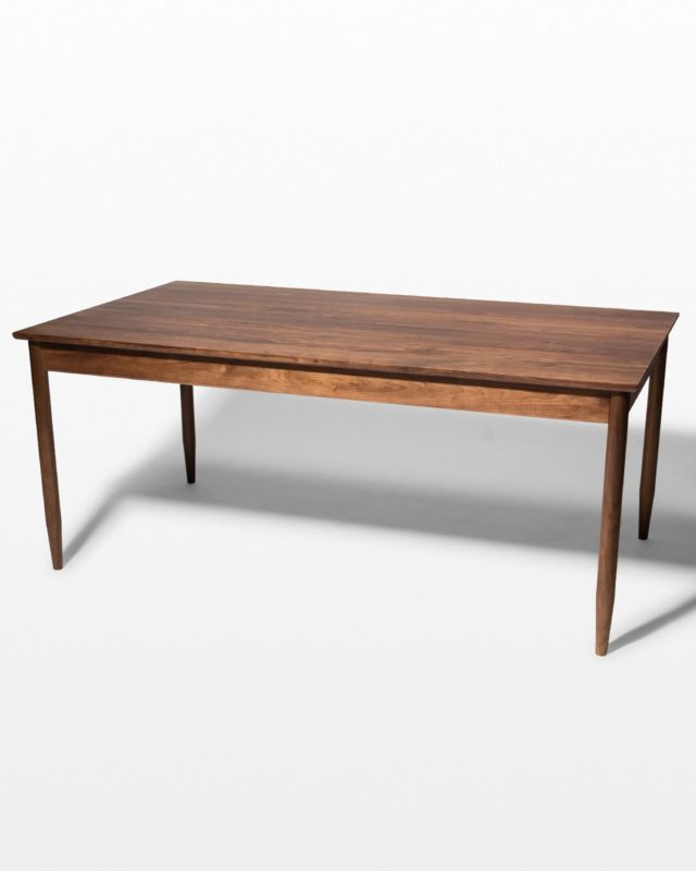 Front view of Elias Solid Walnut Dining Table