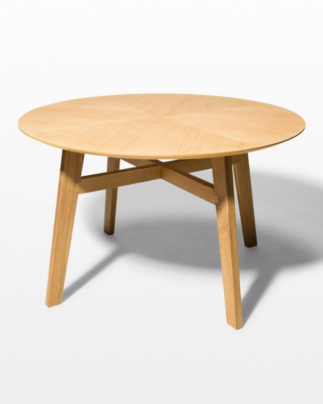 Front view of Chamber Natural Oak Table