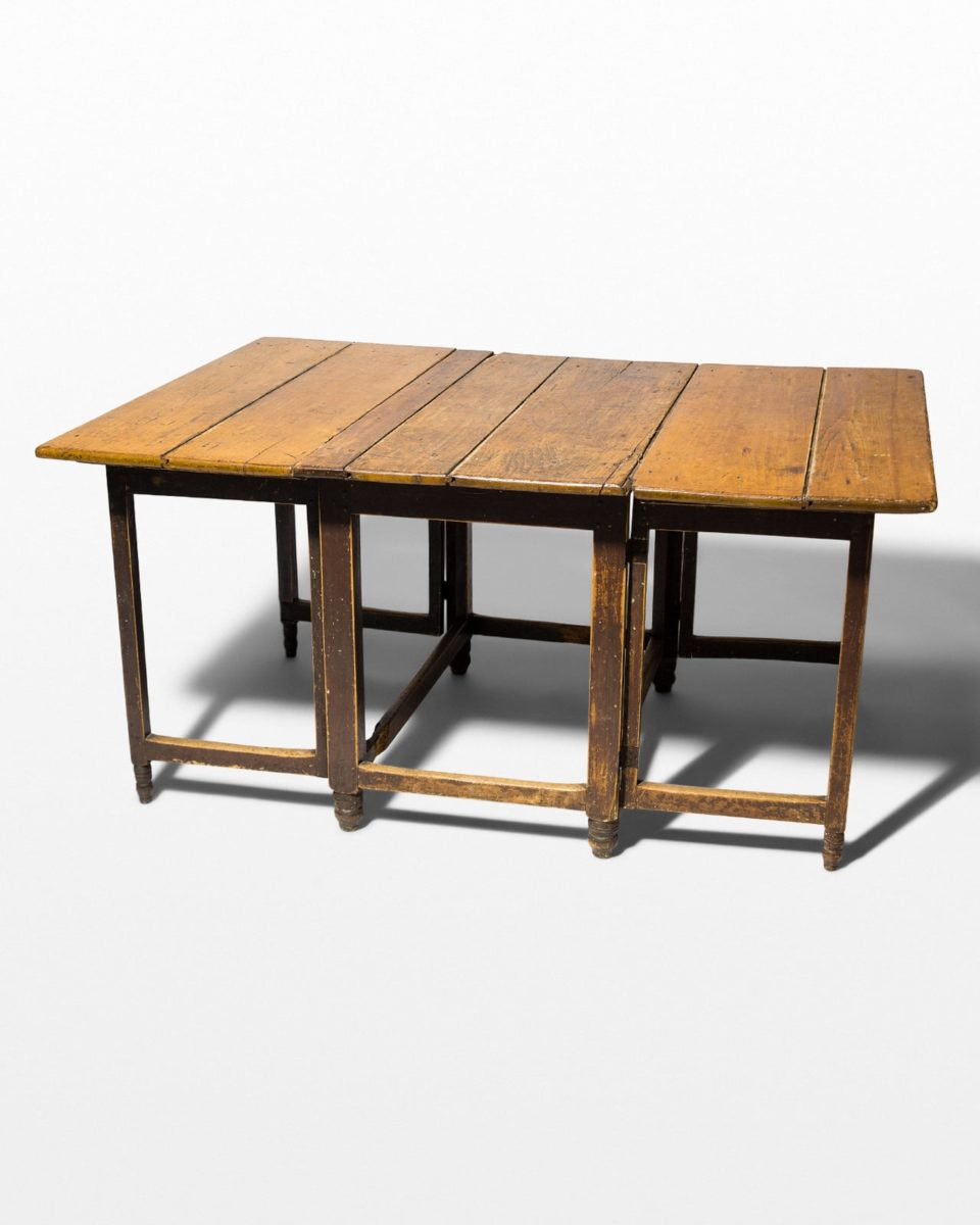 Front view of Russ Foldout Wooden Table