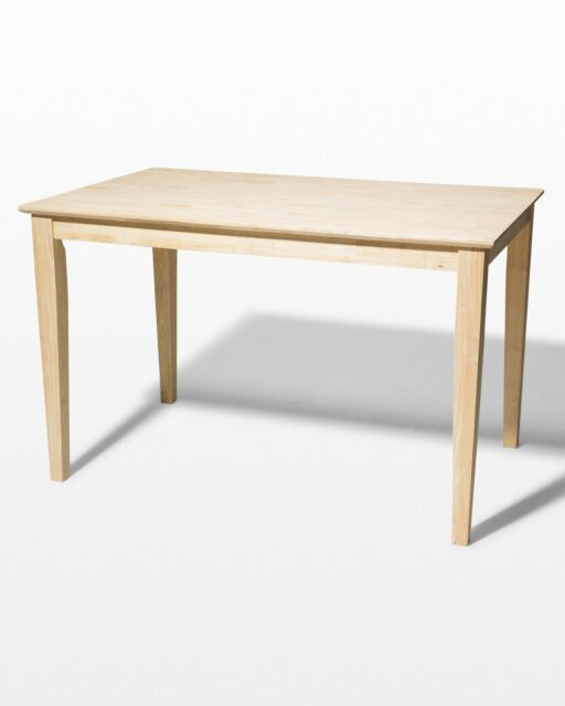 Front view of Tam Natural Wood Table