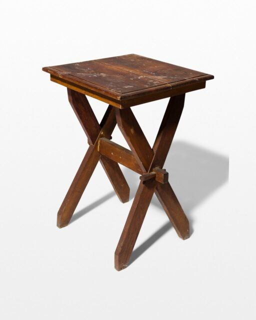 Front view of Trigg Rustic Wooden Side Table