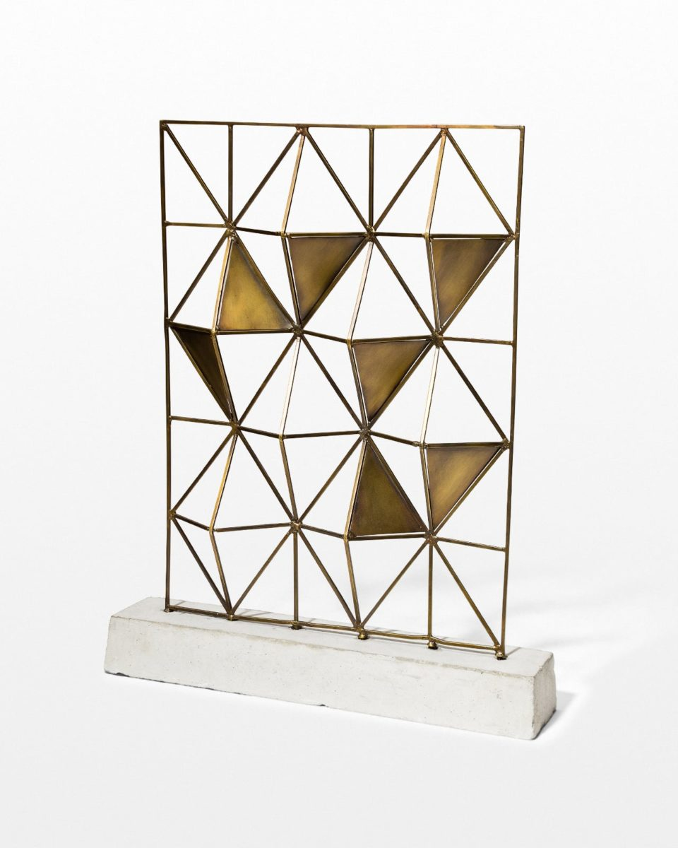 Front view of Coe Brass Screen Tabletop Accent Piece