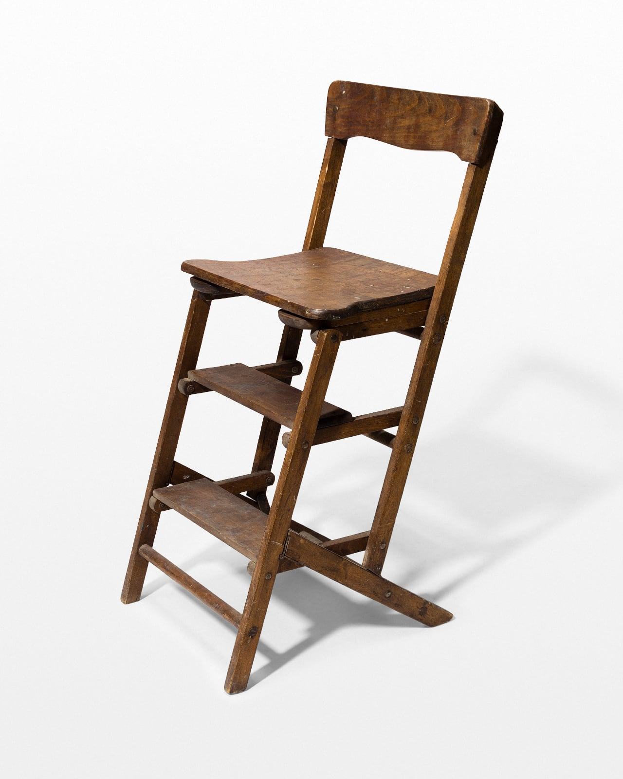 Ch103 Beale Wooden Step Ladder Chair Prop Rental Acme