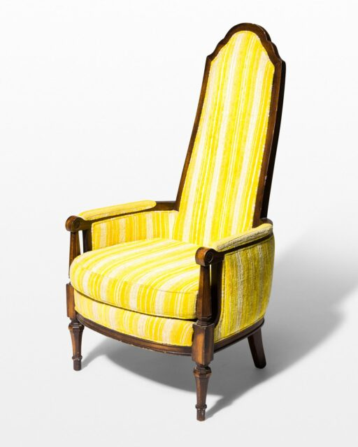Front view of Derek Yellow Stripe Chair