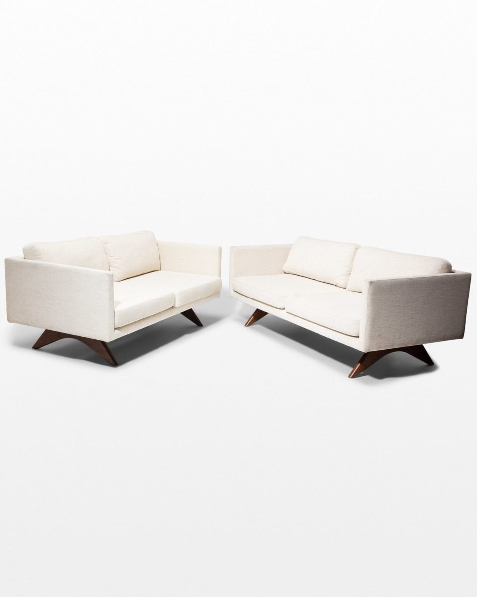 Front view of Olean Sofa and Loveseat Set
