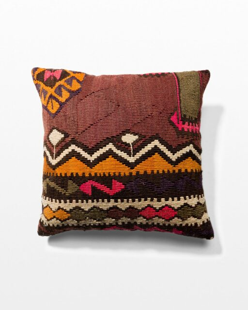 Front view of Dara Kilim Rug Pillow