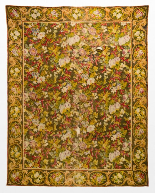 Front view of Padma Floral 8' x 6' Tapestry Distressed Rug