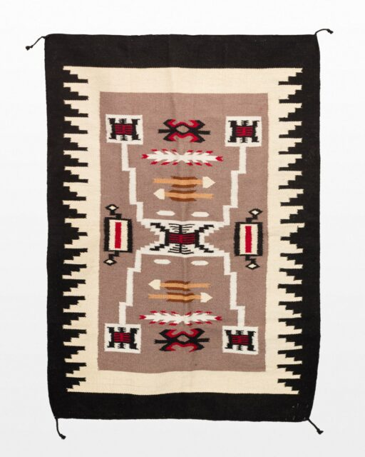 Front view of Edan 4' x 6' Throw Rug