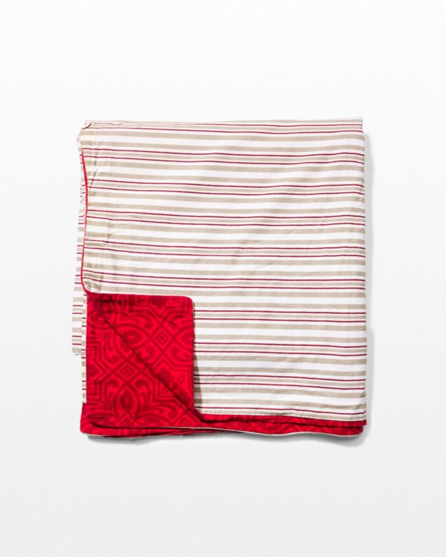 Front view of Preserve Striped Pattern Blanket