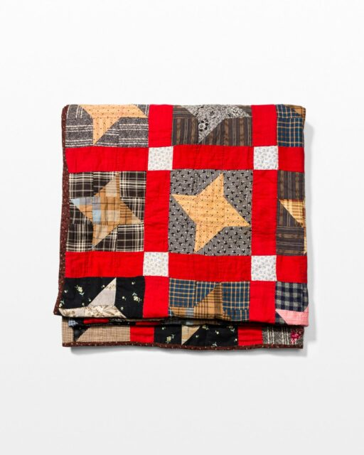 Front view of Four Pointed Star Quilt