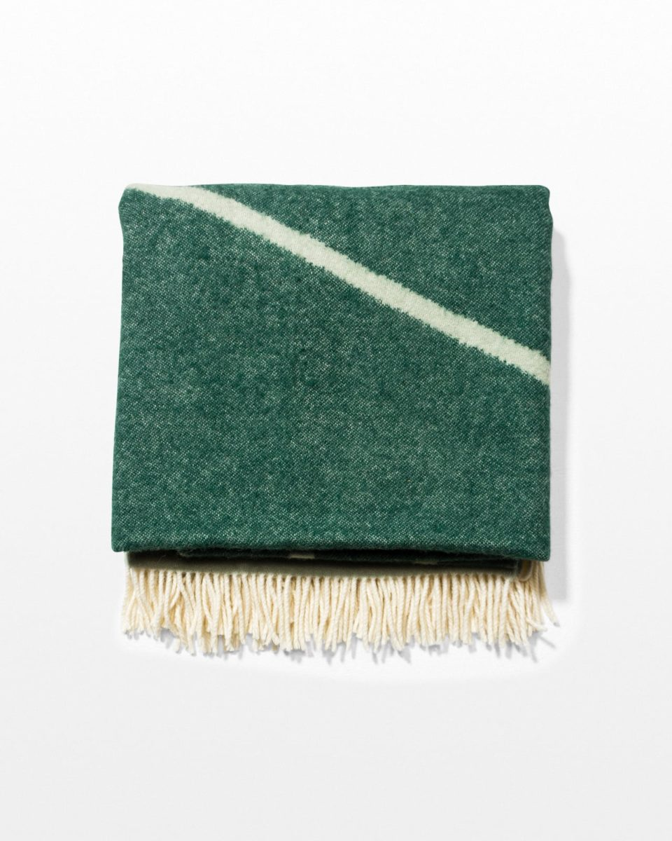 Front view of Val Green Felt Throw