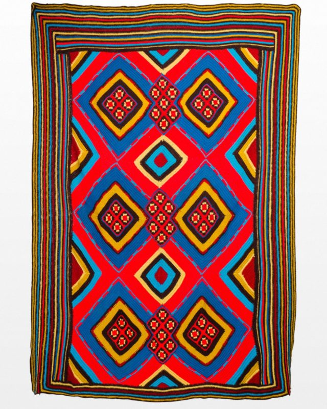 Front view of Allegra Technicolor Throw Blanket