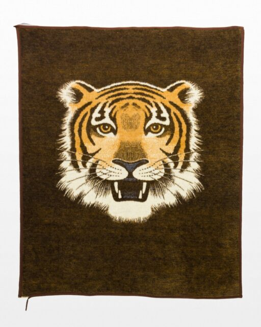Front view of Sabira Tiger Tapestry Blanket