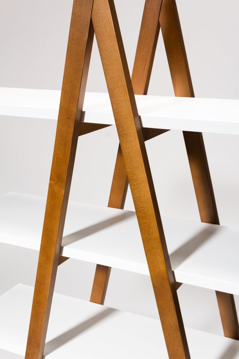 Alternate view 1 of Ander White and Walnut Shelf Unit