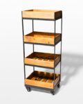 Front view thumbnail of Tate 4-Shelf Rolling Cart