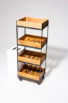 Alternate view thumbnail 2 of Tate 4-Shelf Rolling Cart