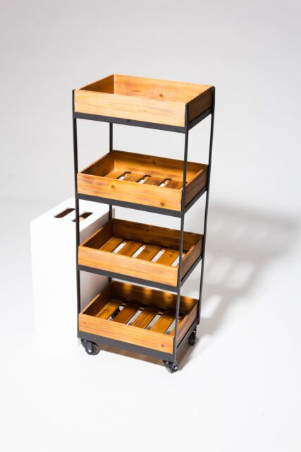 Alternate view 2 of Tate 4-Shelf Rolling Cart