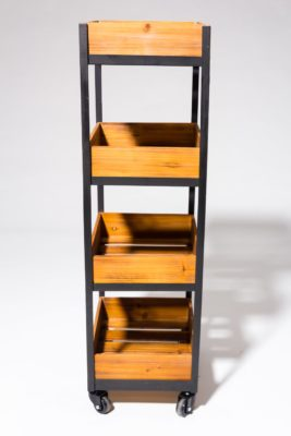 Alternate view 3 of Tate 4-Shelf Rolling Cart