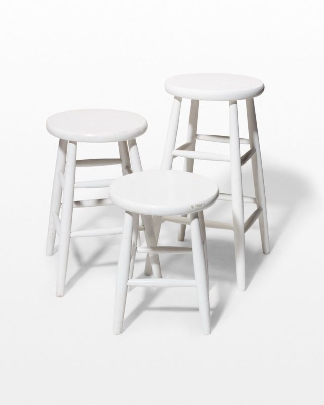 Front view of Corbin Studio Stool Trio