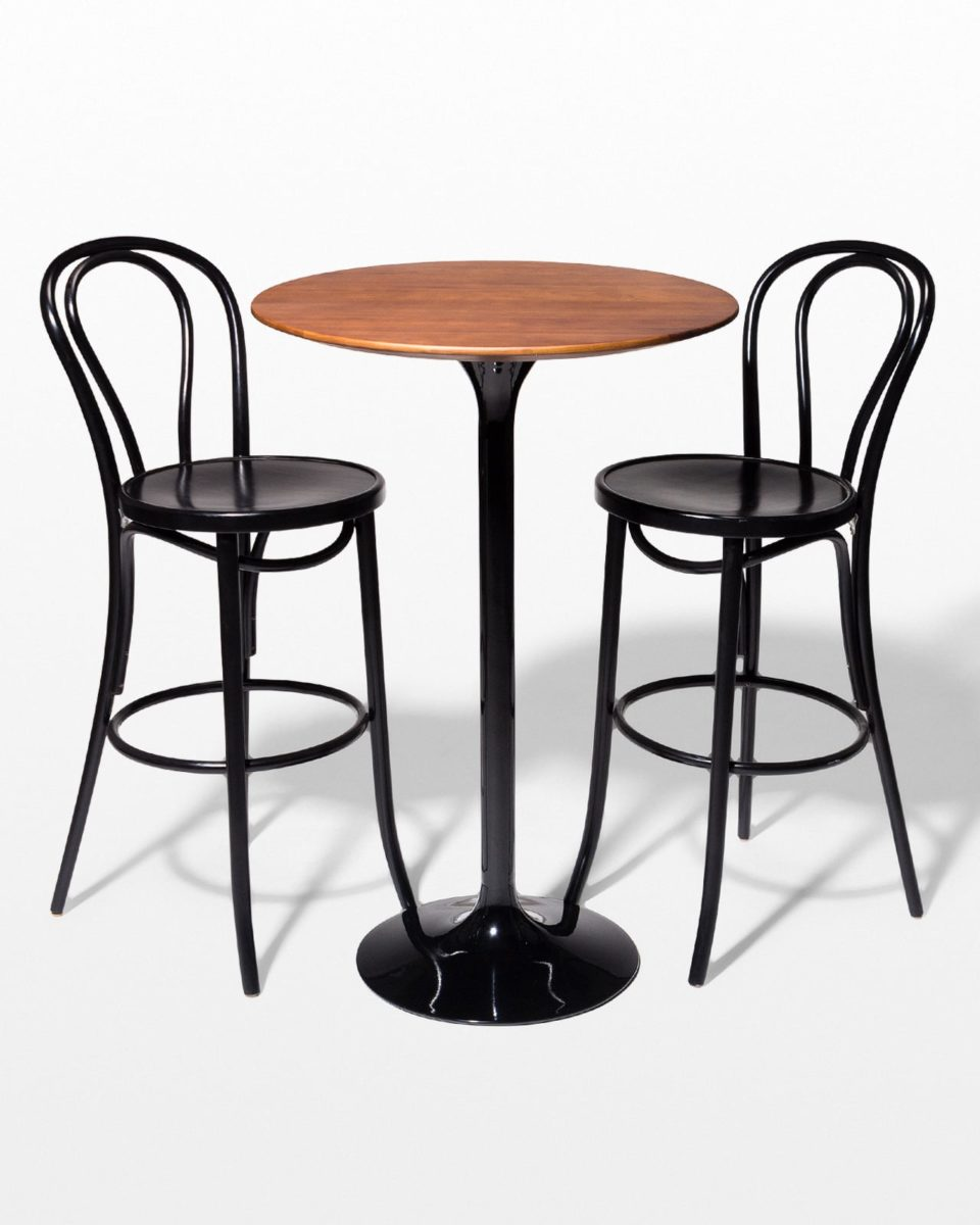 Front view of Cassidy and Etienne Hightop Table Set