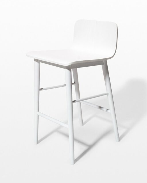 Front view of Gibson White Counter Stool