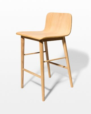 Front view of Devon Natural Oak Counter Stool