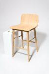 Alternate view thumbnail 1 of Devon Natural Oak Counter Stool