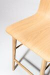 Alternate view thumbnail 2 of Devon Natural Oak Counter Stool