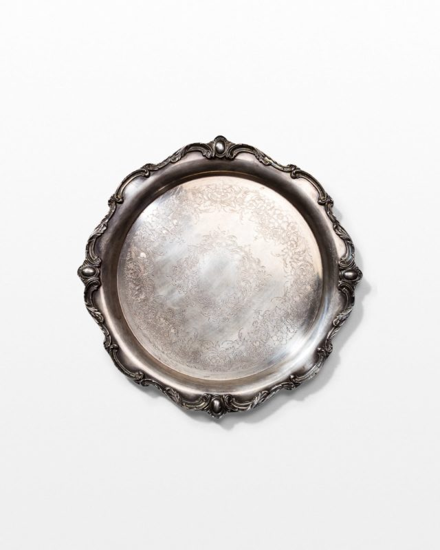 Front view of Butler Silver Serving Tray