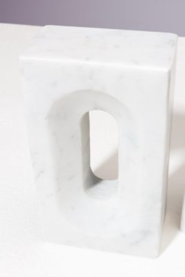 Alternate view 1 of Shore Marble Bookend Object Pair
