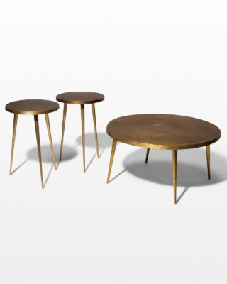 Front view of Jasper Coffee and Side Tables Set