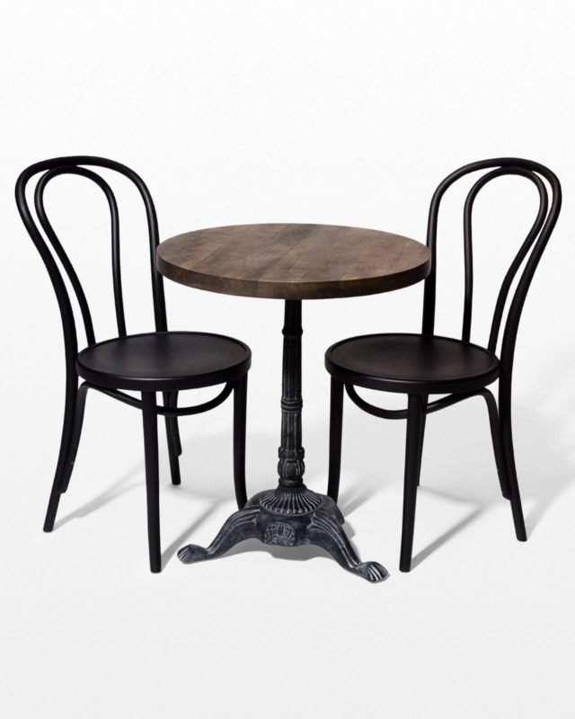 Front view of Ambrose Bistro Table and Chair Set