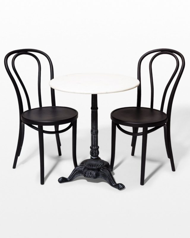Front view of Gilda Bistro Table and Chair Set