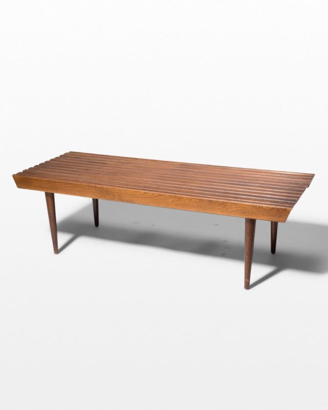 Front view of Lillian Bench Coffee Table