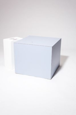 Alternate view 1 of Nemo Light Blue Laminate Cube Side Table