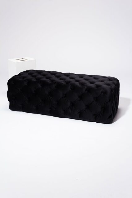 Alternate view 2 of Corbyn Black Tufted Velvet Ottoman