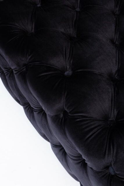 Alternate view 1 of Corbyn Black Tufted Velvet Ottoman