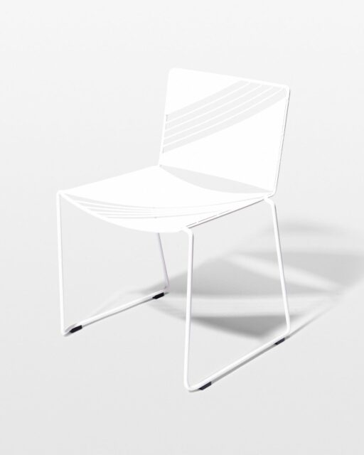 Alternate view 2 of Fly White Enamel Bistro Table and Chair Set
