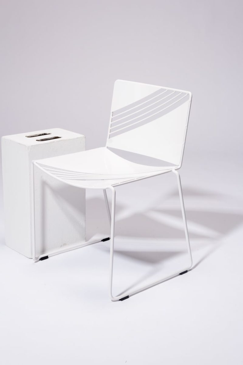 Alternate view 2 of Fly White Enamel Chair